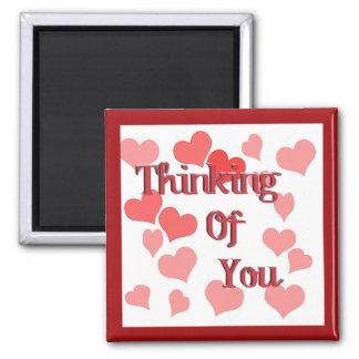 Aimant Petits coeurs pensant à vous