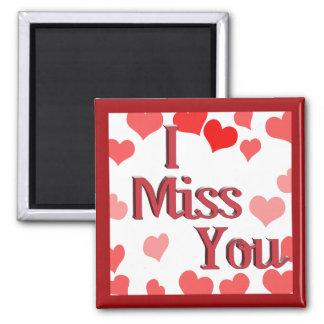Aimant Petits coeurs - tu me manque