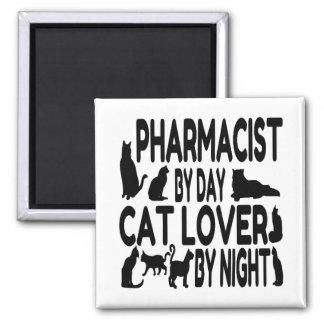 Aimant Pharmacien d'amoureux des chats
