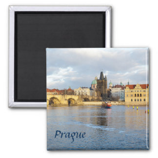Aimant Photo de souvenir de Prague de rivière de Vlatva