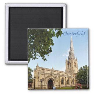 Aimant Photo tordue de souvenir de flèche de Chesterfield