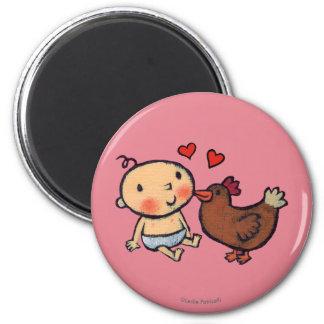 Aimant Picotin mignon de poulet de Brown sur la joue pour