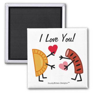 Aimant Pierogi et Kielbasa - je t'aime !