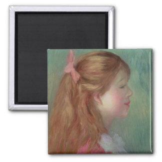 Aimant Pierre une jeune fille de Renoir   avec de longs