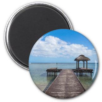 Aimant Pilier dans le flac flic îles Maurice d'en d'océan