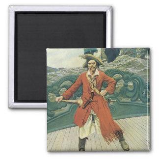 Aimant Pirates vintages, capitaine Keitt par Howard Pyle
