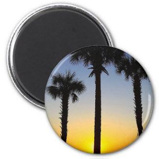 Aimant Plage de ciel de palmier d'aube d'aube de lever de