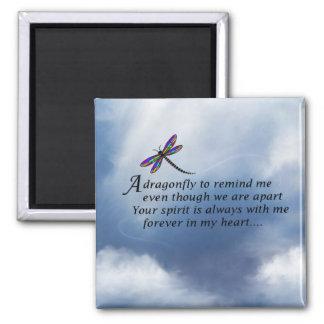 Aimant Poème de mémorial de libellule