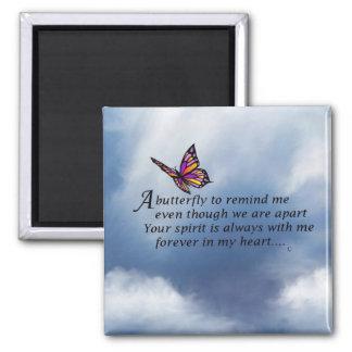 Aimant Poème de mémorial de papillon