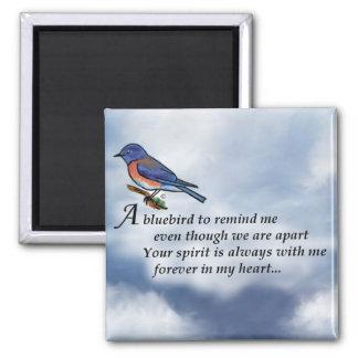 Aimant Poème de mémorial d'oiseau bleu