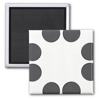 Aimant Points gris-foncé Checkered