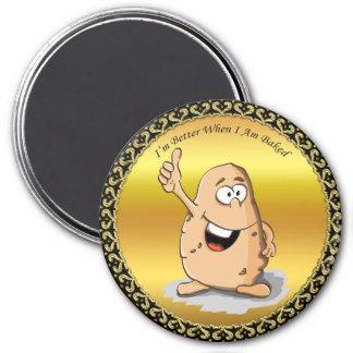 Aimant pomme de terre de personnage de dessin animé avec