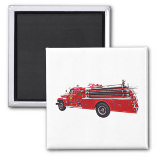 Aimant Pompe à incendie vintage d'ouvrier chargé des