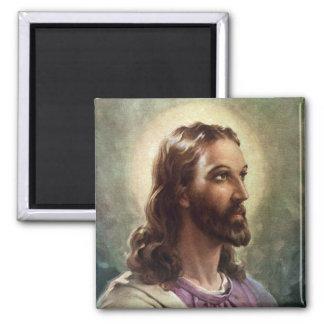Aimant Portrait religieux vintage, Jésus-Christ avec le