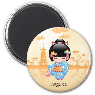Aimant Poupée de Maiko Kokeshi - fille de geisha