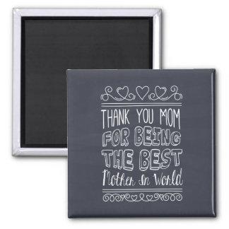 Aimant Pour la meilleure maman dans l'aimant du monde  