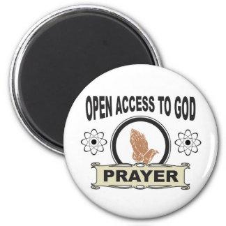 Aimant prière d'accès ouvert