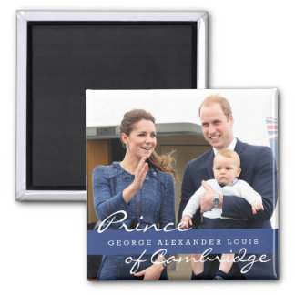 Aimant Prince George - William et Kate