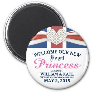 Aimant Princesse royale bienvenue - bébé de William et de