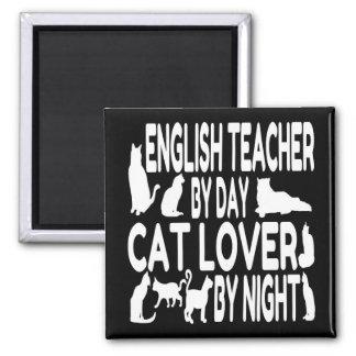 Aimant Professeur d'Anglais d'amoureux des chats