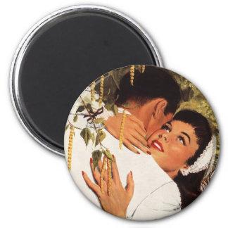 Aimant Proposition vintage de mariage, histoires d'amour