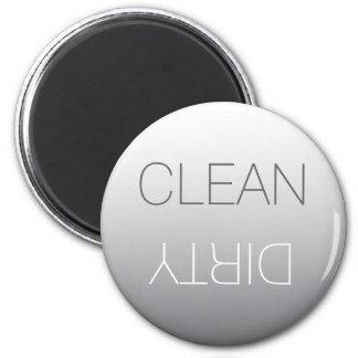 Aimant propre de gris en acier ou sale rond de