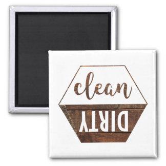 Aimant propre et sale de lave-vaisselle