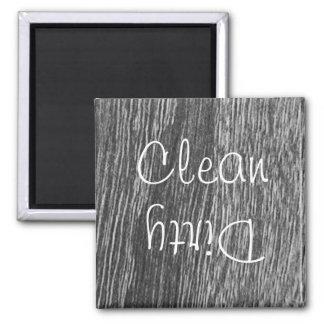 Aimant propre ou sale de lave-vaisselle