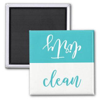 Aimant propre ou sale de lave-vaisselle (Aqua et