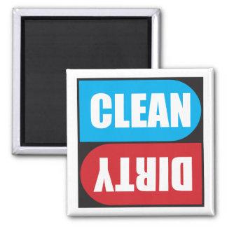Aimant propre sale pour le lave-vaisselle magnets