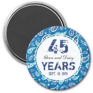 Aimant quarante-cinquième Motif de Paisley d'anniversaire