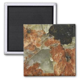 Aimant Quartz orange, noir et clair