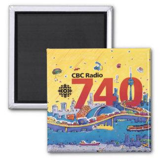 Aimant Radio de CBC 740 - graphique 1980 de promo