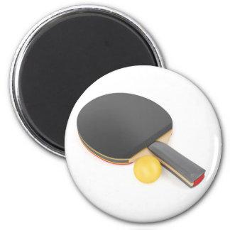 Aimant Raquette et boule de ping-pong