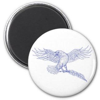 Aimant Raven portant le dessin de cannette