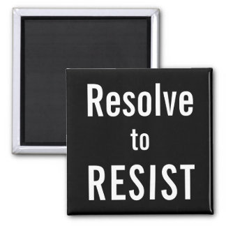 Aimant Résolution À RÉSISTER, texte blanc audacieux sur