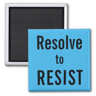 Aimant Résolution À RÉSISTER, texte noir sur l'aimant de