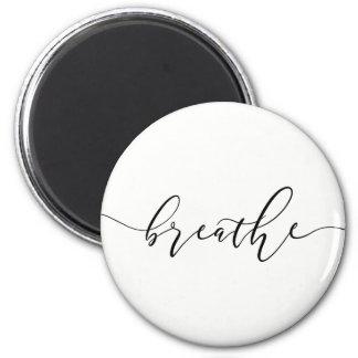 Aimant Respirez le yoga Minimalistic de méditation