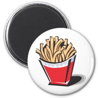 Aimant rétro conception de pommes frites