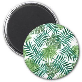 Aimant Rétro conception verte de motif de style de