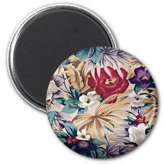 Aimant Rétro motif de fleur tropical