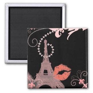 Aimant rétro Tour Eiffel chic girly de Paris de mode