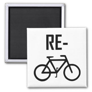 Aimant Réutilisez le vélo de bicyclette