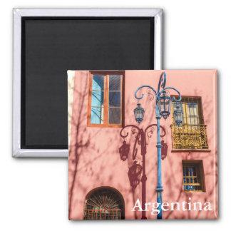 Aimant Réverbère et mur rose