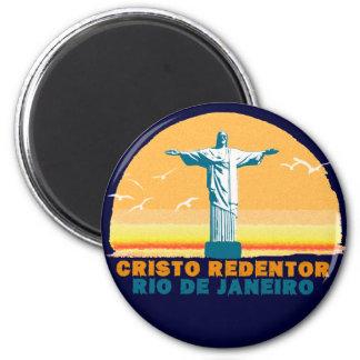 Aimant Rio - Corcovado - Jésus-Christ le rédempteur
