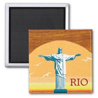 Aimant Rio. Corcovado. Jésus-Christ le rédempteur