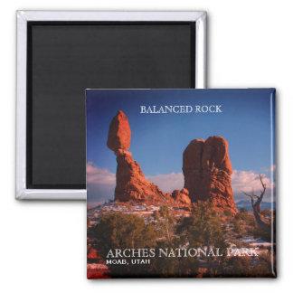 Aimant Roche équilibrée, voûtes parc national, Moab, Utah