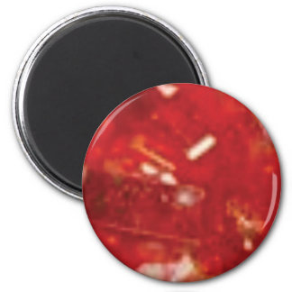 Aimant roche rouge de fracture