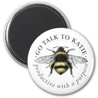Aimant rond d'abeille