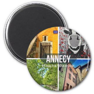 Aimant rond d'Annecy, la Haute-Savoie